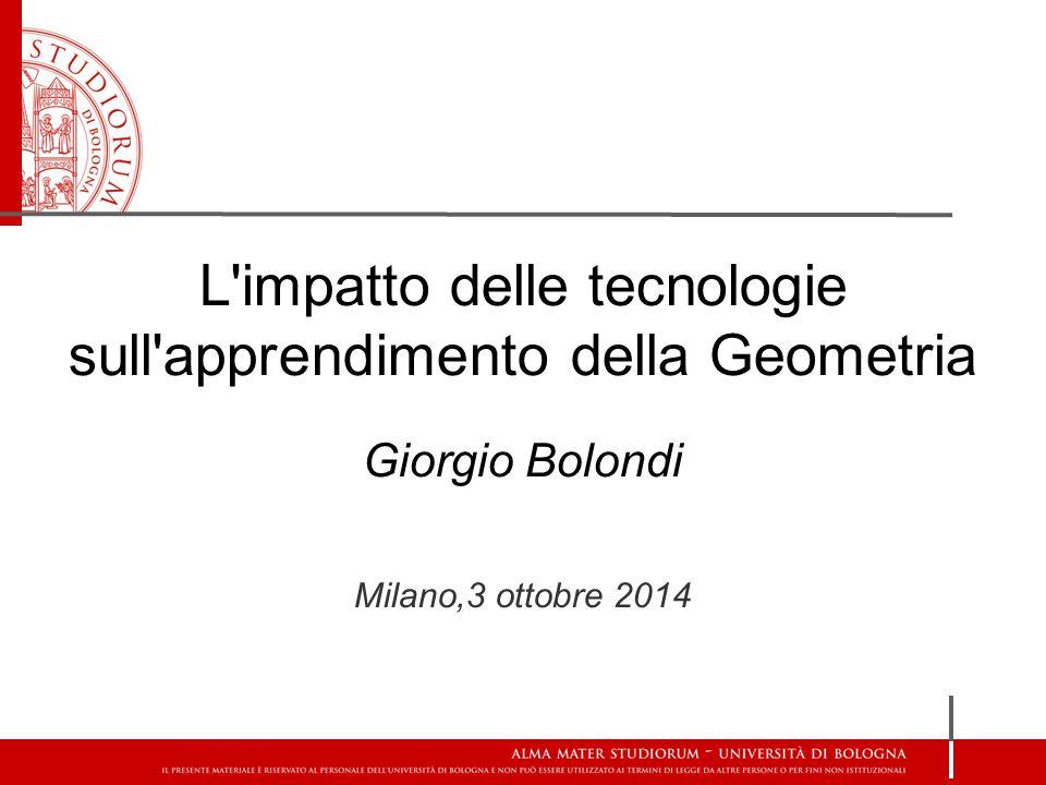L impatto delle tecnologie sull apprendimento della Geometria