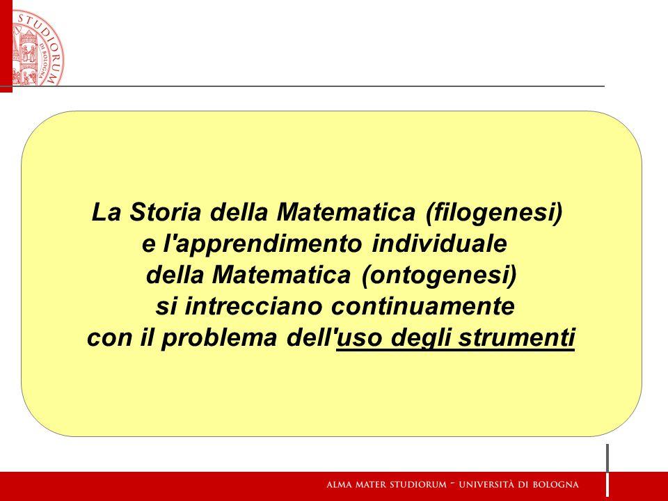 La Storia della Matematica (filogenesi) e l apprendimento individuale