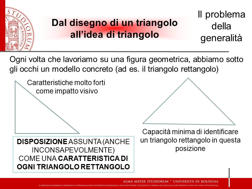 Dal disegno di un triangolo