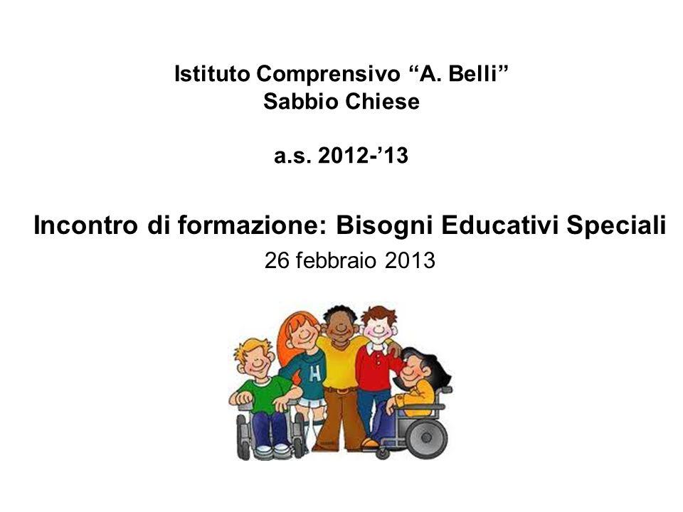 Istituto Comprensivo A. Belli Sabbio Chiese a.s. 2012-'13