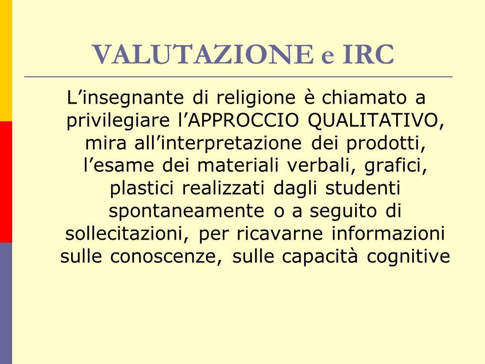 VALUTAZIONE e IRC