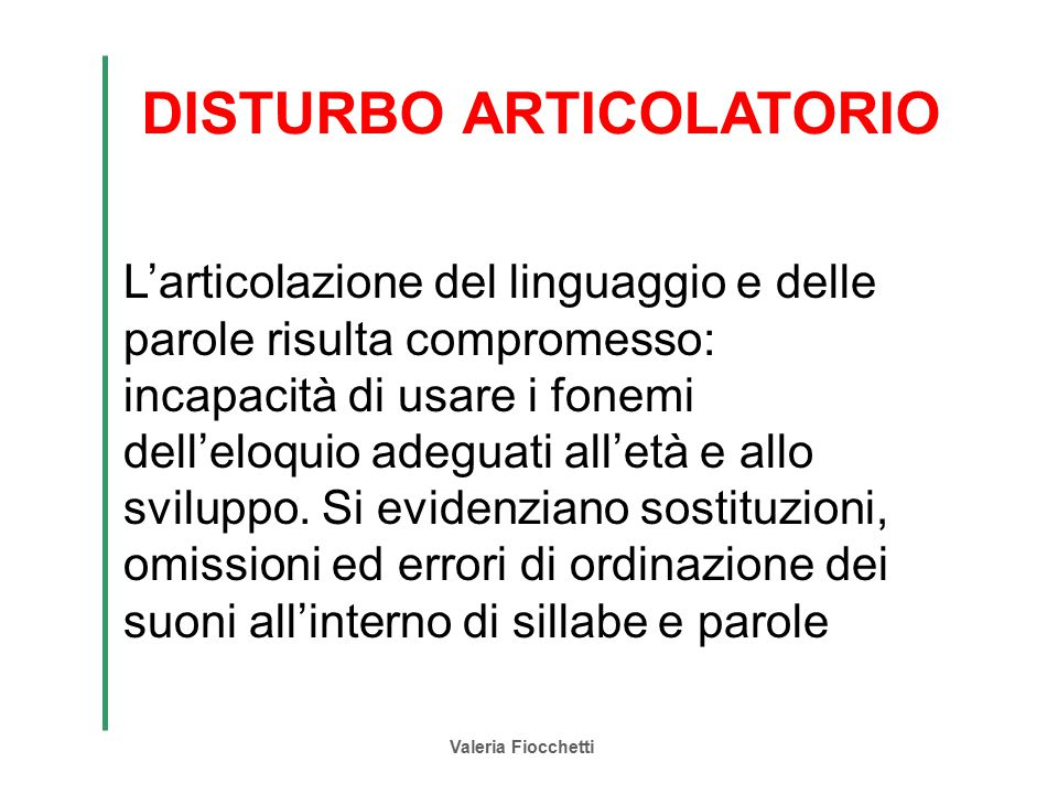 DISTURBO ARTICOLATORIO