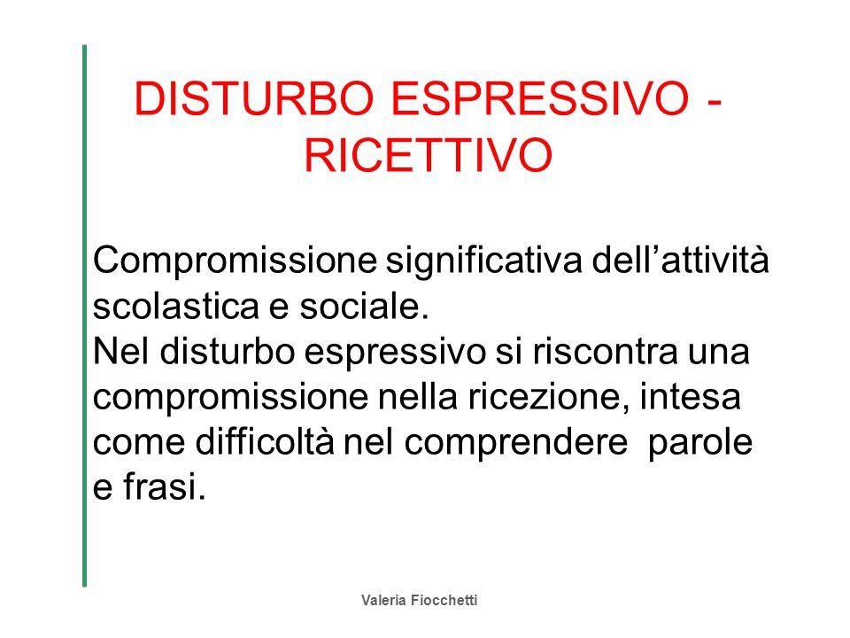 DISTURBO ESPRESSIVO -RICETTIVO