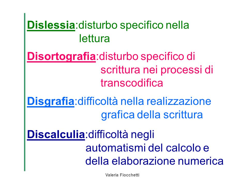 Dislessia:disturbo specifico nella lettura