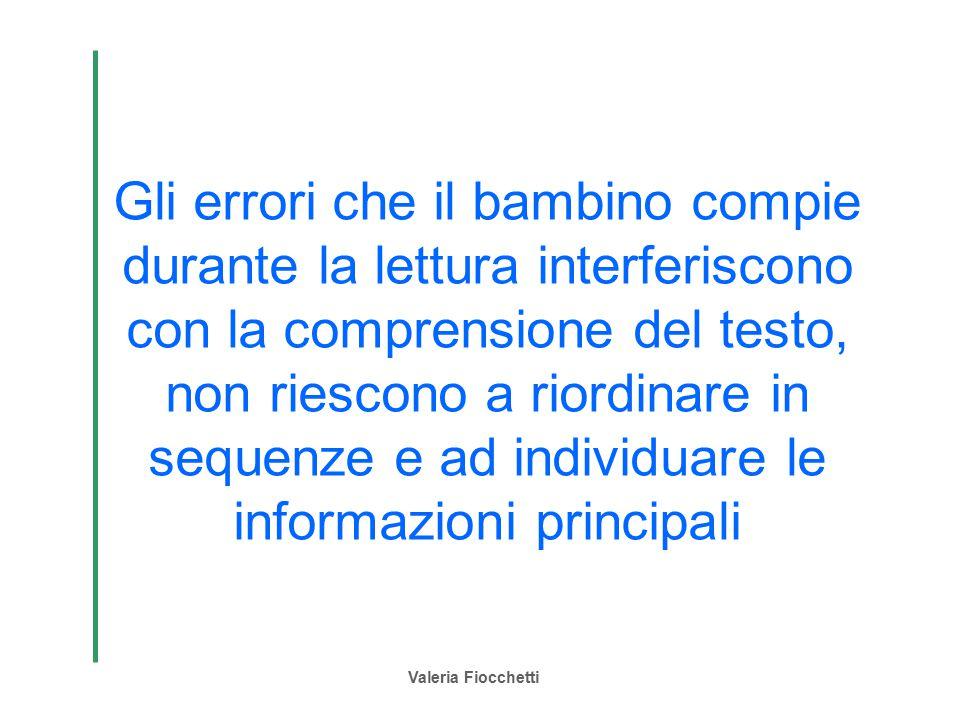 Gli errori che il bambino compie durante la lettura interferiscono con la comprensione del testo, non riescono a riordinare in sequenze e ad individuare le informazioni principali