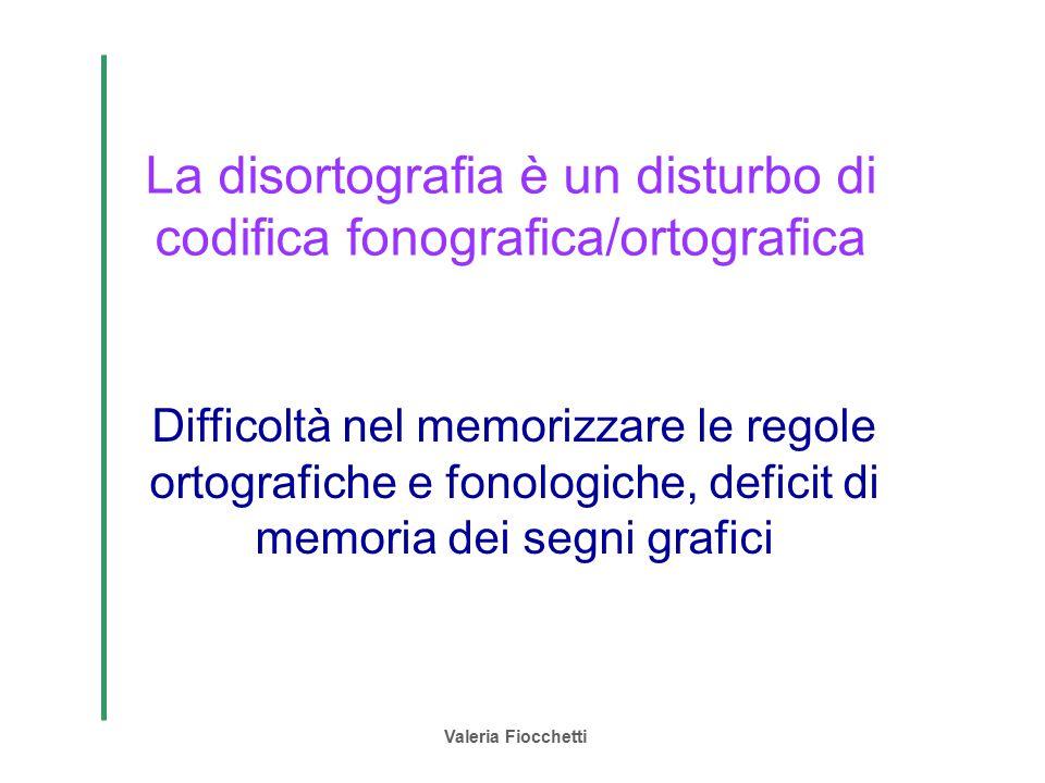 La disortografia è un disturbo di codifica fonografica/ortografica