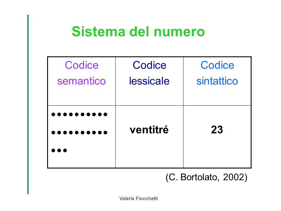 Sistema del numero   Codice semantico lessicale