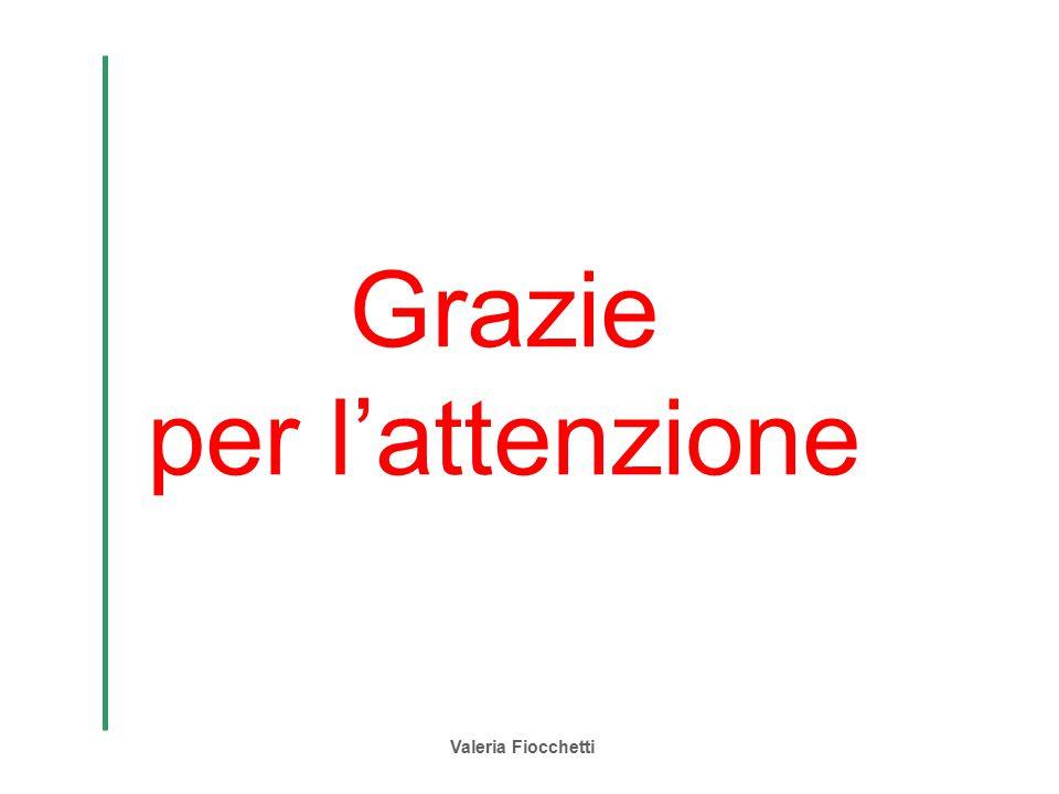 Grazie per l'attenzione Valeria Fiocchetti