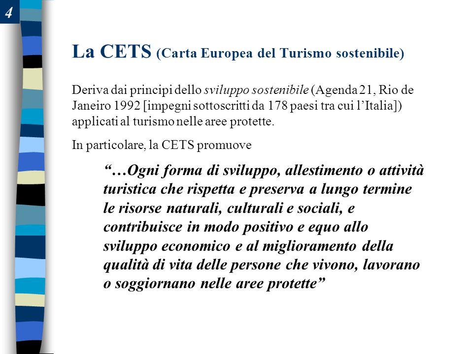 La CETS (Carta Europea del Turismo sostenibile)