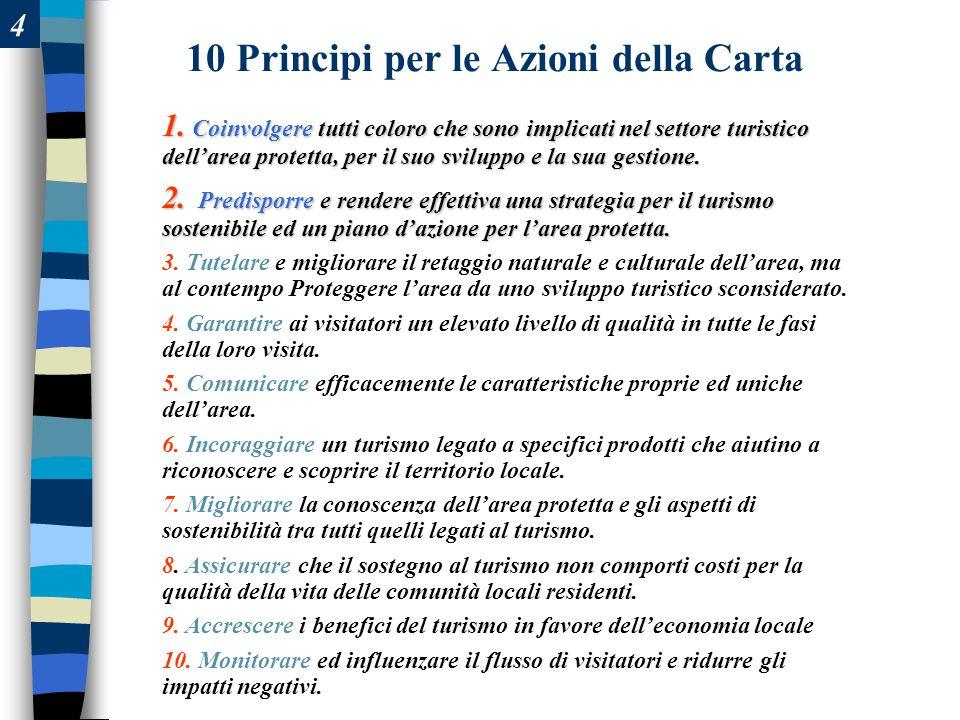 10 Principi per le Azioni della Carta