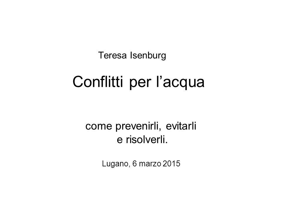 Teresa Isenburg Conflitti per l'acqua