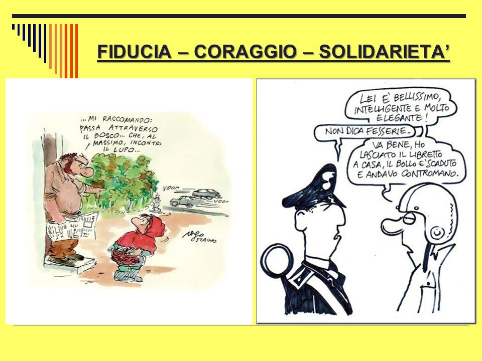 FIDUCIA – CORAGGIO – SOLIDARIETA'
