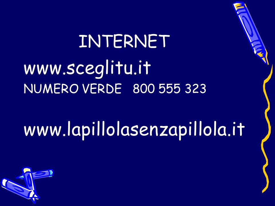 www.sceglitu.it www.lapillolasenzapillola.it INTERNET