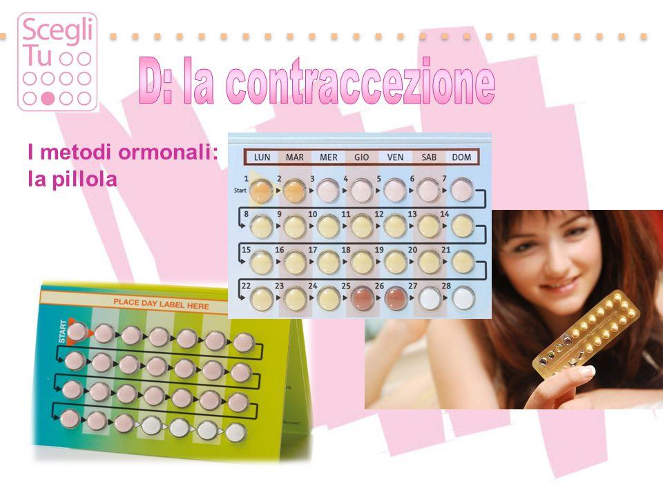 D: la contraccezione I metodi ormonali: la pillola
