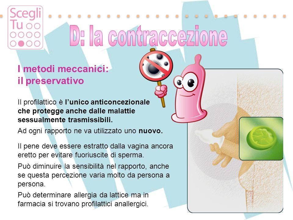 I metodi meccanici: il preservativo D: la contraccezione