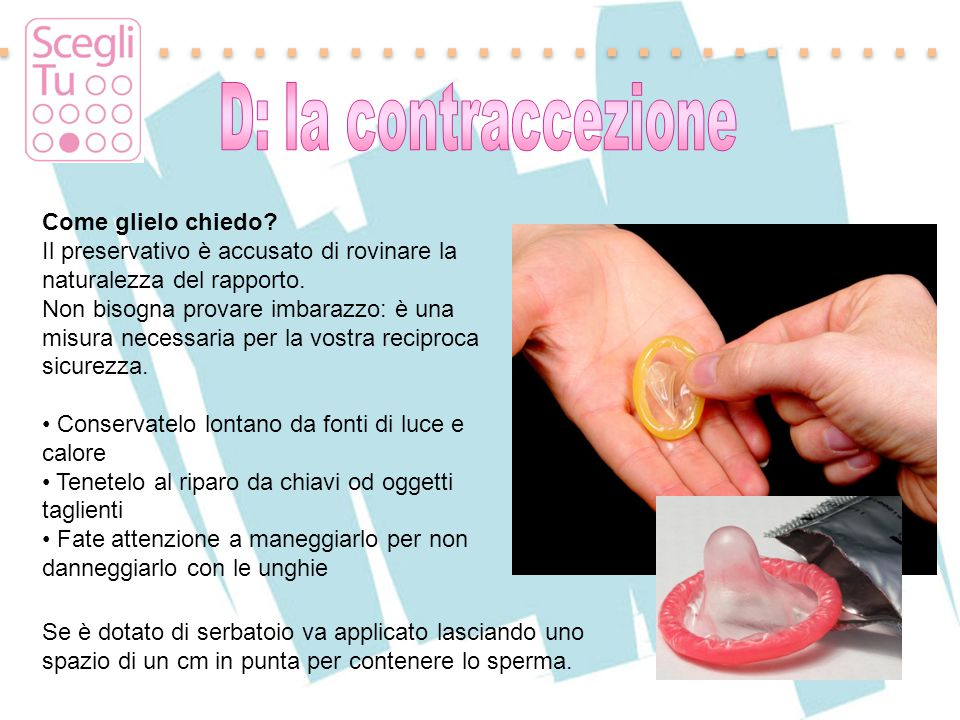 D: la contraccezione Come glielo chiedo