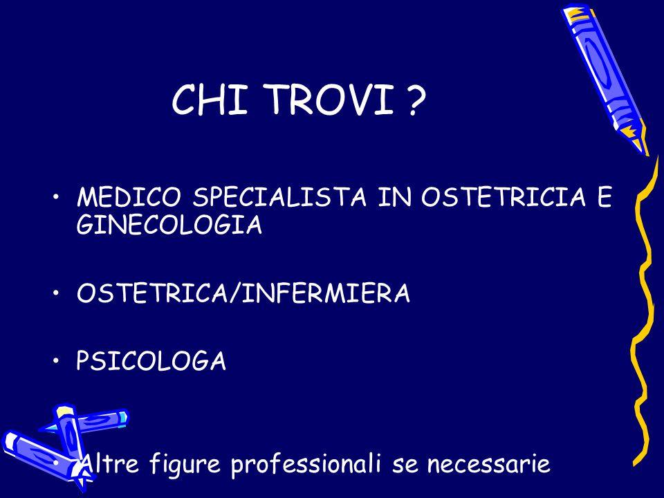 CHI TROVI MEDICO SPECIALISTA IN OSTETRICIA E GINECOLOGIA