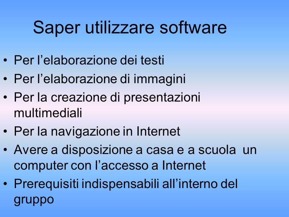 Saper utilizzare software