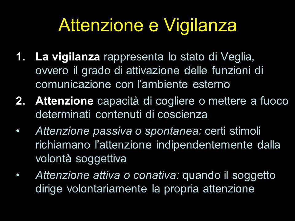 Attenzione e Vigilanza
