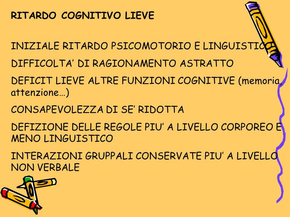 RITARDO COGNITIVO LIEVE