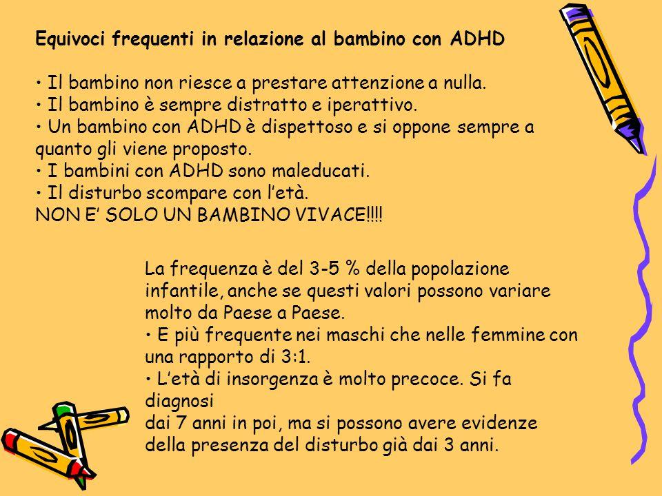 Equivoci frequenti in relazione al bambino con ADHD
