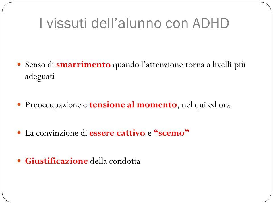 I vissuti dell'alunno con ADHD