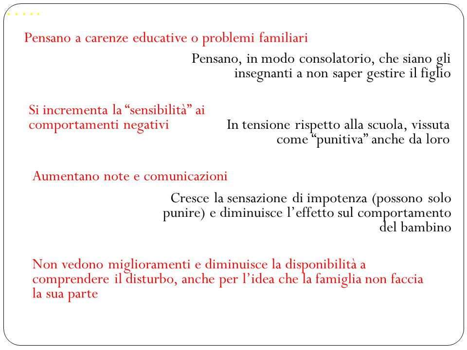 ….. Pensano a carenze educative o problemi familiari