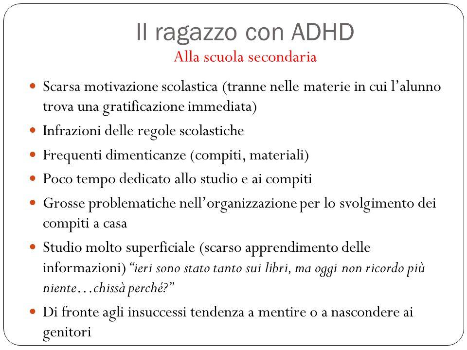 Il ragazzo con ADHD Alla scuola secondaria