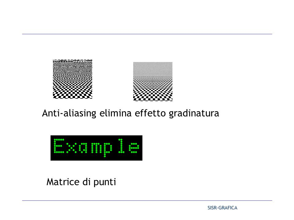 Anti-aliasing elimina effetto gradinatura