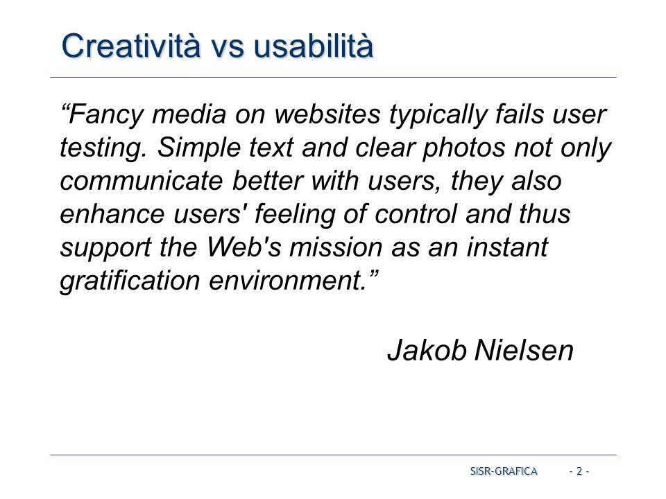Creatività vs usabilità