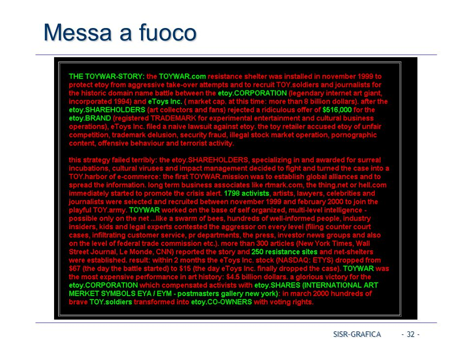 Messa a fuoco Operating Systems Operating Systems Operating Systems