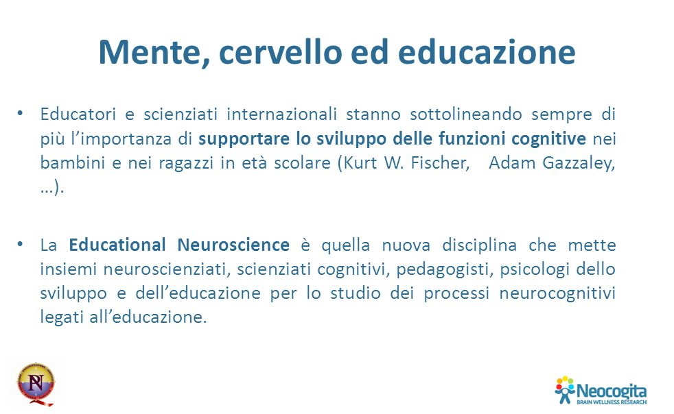 Mente, cervello ed educazione