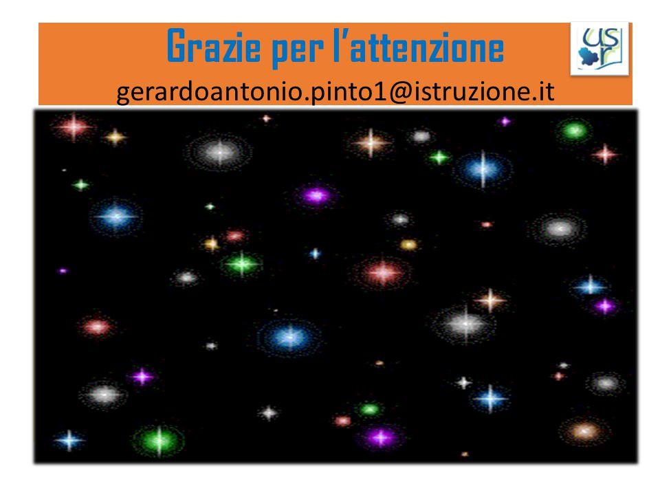 Grazie per l'attenzione gerardoantonio.pinto1@istruzione.it