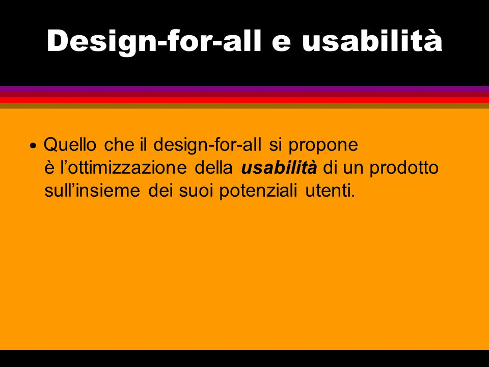 Design-for-all e usabilità