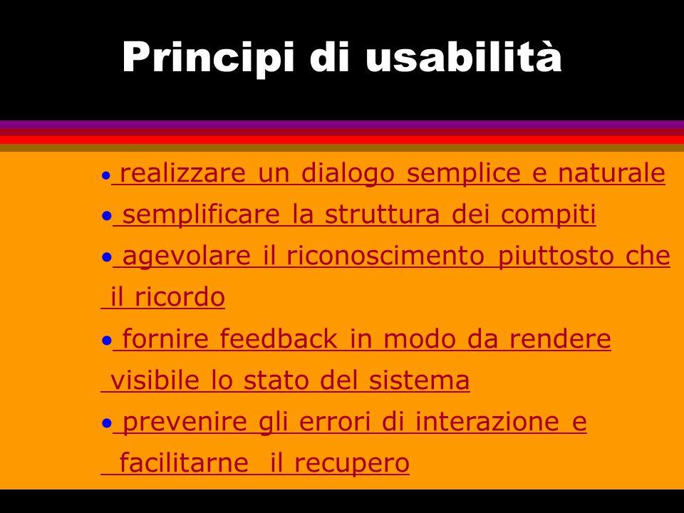 Principi di usabilità semplificare la struttura dei compiti