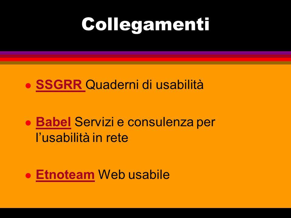 Collegamenti SSGRR Quaderni di usabilità