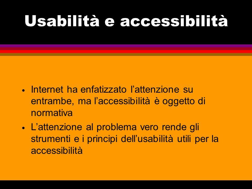 Usabilità e accessibilità