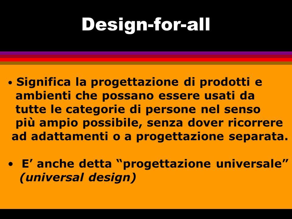 Design-for-all ambienti che possano essere usati da