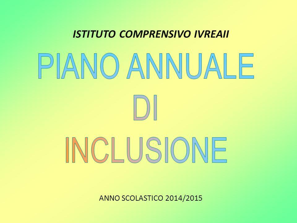 ISTITUTO COMPRENSIVO IVREAII ANNO SCOLASTICO 2014/2015