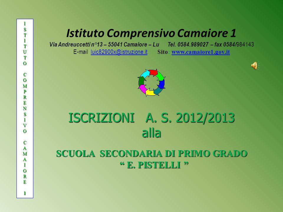 Istituto Comprensivo Camaiore 1 SCUOLA SECONDARIA DI PRIMO GRADO