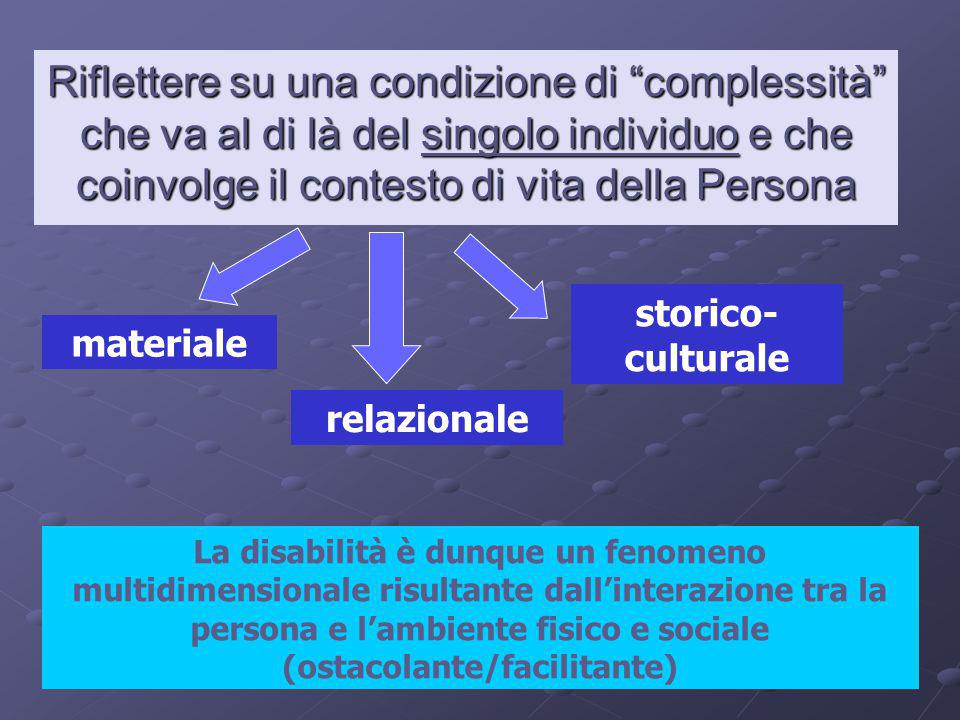 Riflettere su una condizione di complessità che va al di là del singolo individuo e che coinvolge il contesto di vita della Persona