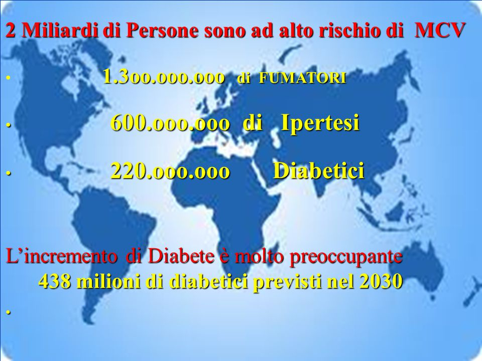 2 Miliardi di Persone sono ad alto rischio di MCV