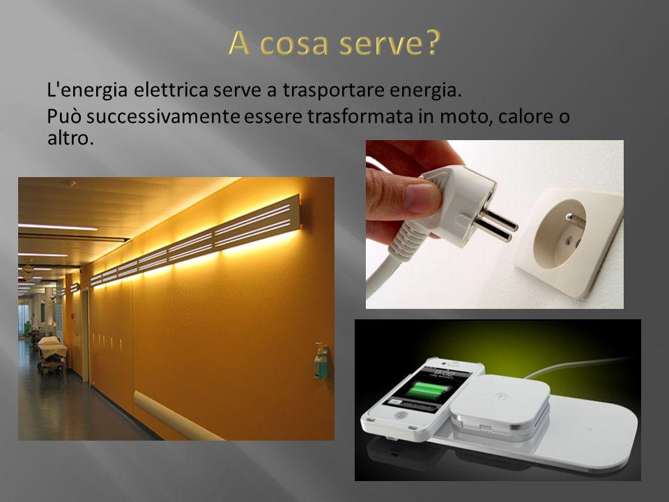 A cosa serve L energia elettrica serve a trasportare energia.