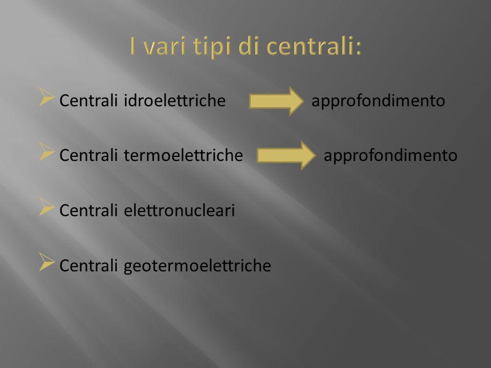 I vari tipi di centrali:
