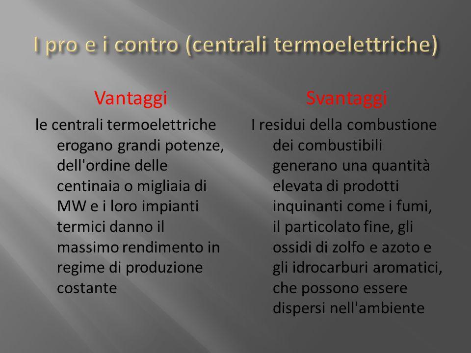 I pro e i contro (centrali termoelettriche)