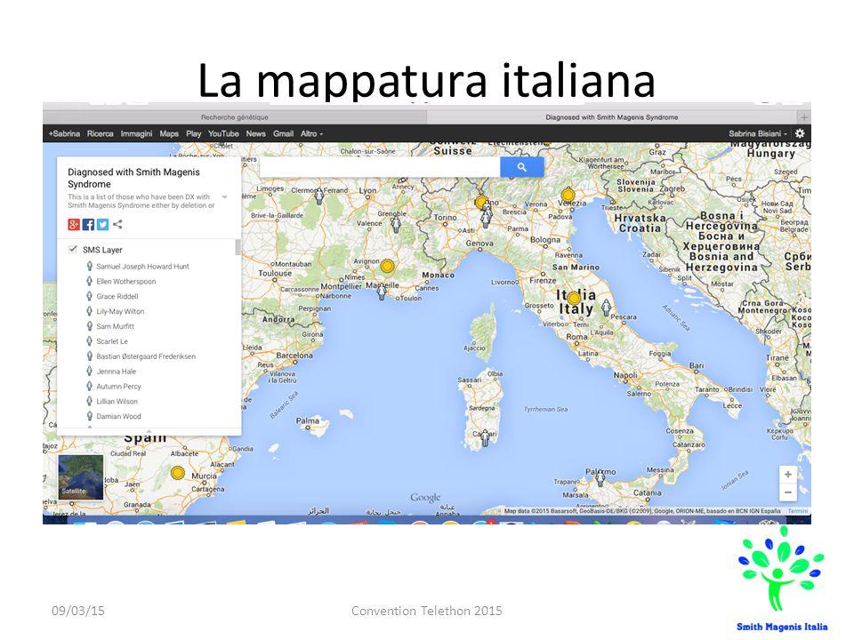 La mappatura italiana 09/03/15 Convention Telethon 2015
