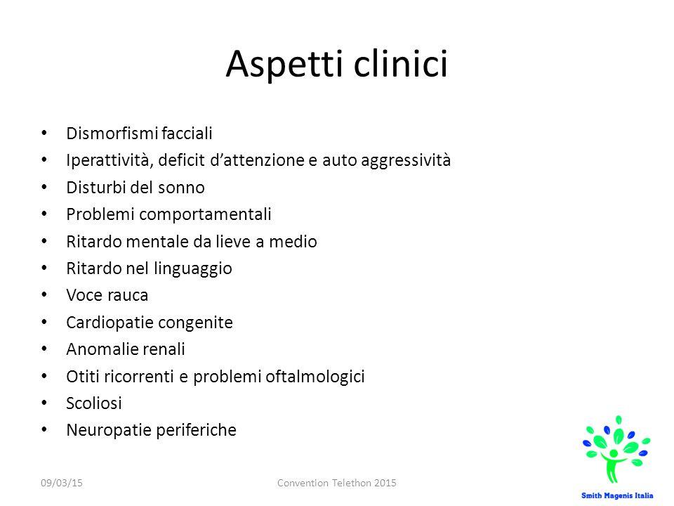Aspetti clinici Dismorfismi facciali