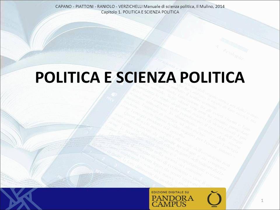 POLITICA E SCIENZA POLITICA