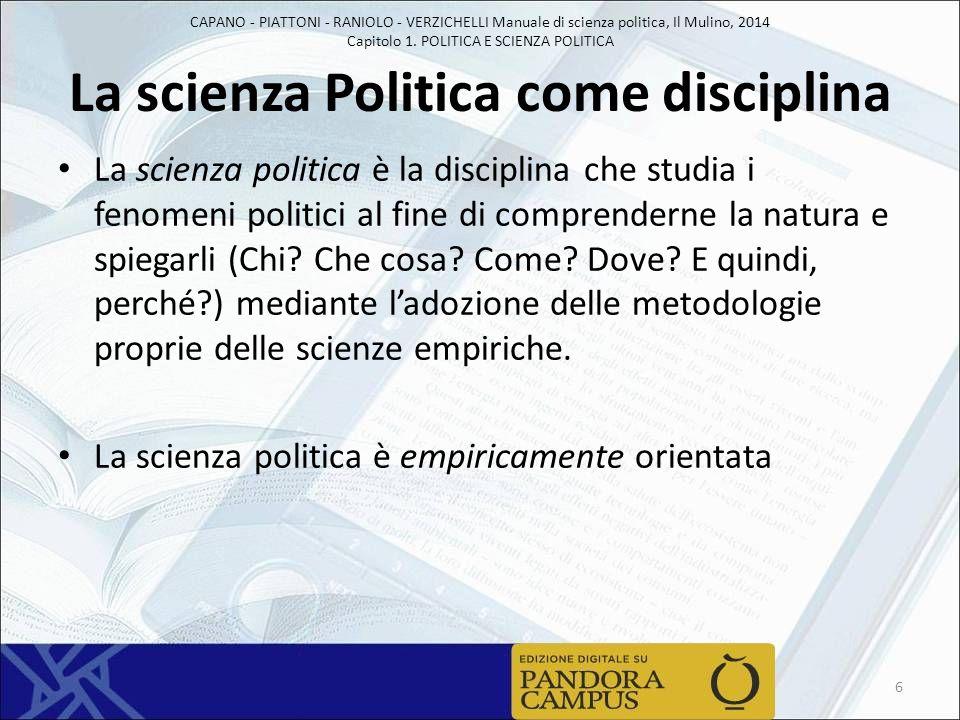 La scienza Politica come disciplina
