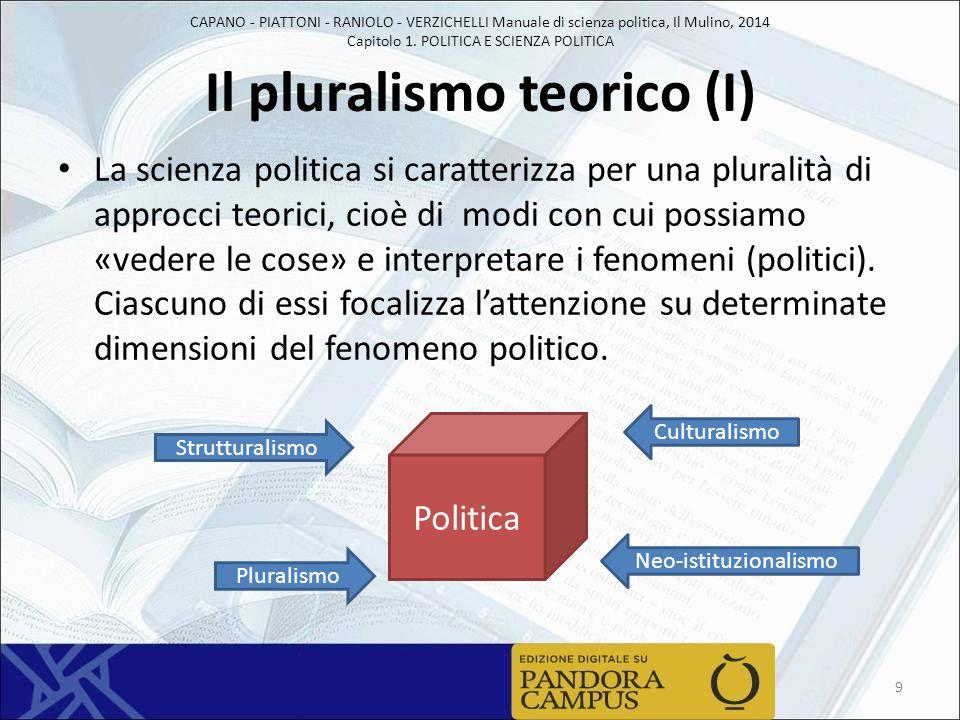 Il pluralismo teorico (I)
